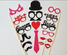 Photo Booth Props  Best Wedding18 Pieces Photo by Partyanimalstuff, $19.00