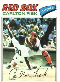 1977 Topps Carlton Fisk Baseball Card for sale online Red Sox Baseball, Sports Baseball, Baseball Players, Baseball Stuff, Sports Teams, Baseball Cards For Sale, Football Cards, Boston Sports, Boston Red Sox