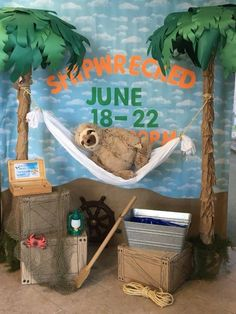 Pin by Annette Morgan on Shipwreck VBS Vbs Themes, Ocean Themes, Cave Quest Vbs, Safari Decorations, Island Theme, Bible School Crafts, Vbs 2016, Vbs Crafts, Vacation Bible School