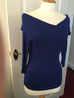 05c519f36bb6c1 J By Jasper Conran Womens Blue Bardot Neck Size 10 J By Jasper Conran,  Bardot