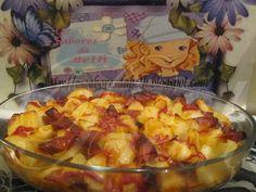 O Sabores de Beth - Os Sabores da Beth: Lands Maçãs e Salsicha Bake in / gratinado de Batatas com salchichas