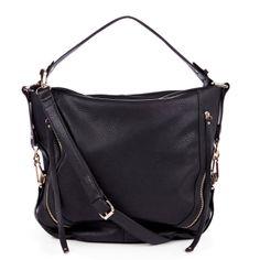 69edf1fda622 Black Crossover Handbag Black Purses, Fashion Outfits, Womens Fashion, Hobo  Bag, Love