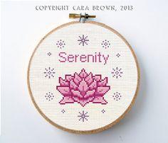 Lotus Flower Cross Stitch Pattern Instant by TheElfinForest