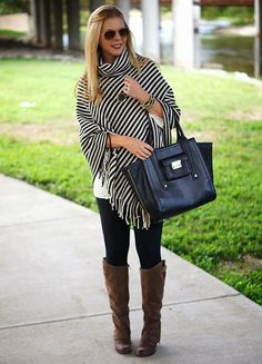 LOVE this poncho! Such a cute look for fall!