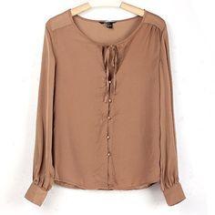 long sleeve chiffon blouse - Buscar con Google