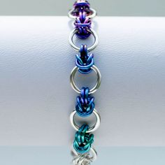 Ombré Rainbow Bracelet __ COLORS AND ALSO DESIGN BUT MOSTLY TEAL AND COLORS ... IT MATCHES MY HAIR!