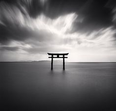 Torii, Study 2, Biwa Lake, Honshu, Japan, 2007 by Michael Kenna.