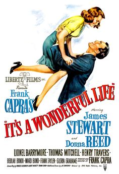 """It's A Wonderful Life - Home Theater Decor Movie Poster Print - 13""""x19"""" or 24""""x36"""" - Big Movie Poster - James Stewart Donna Reed Frank Capra by cinemaArts on Etsy https://www.etsy.com/listing/125738818/its-a-wonderful-life-home-theater-decor"""