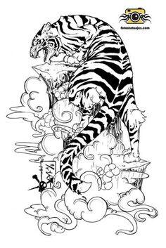 Plantillas tatuajes tigres