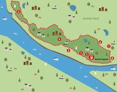 Grafik zeigt die Strecke der Bremen-Nord-Runde; Quelle: bremen.online GmbH / MEL