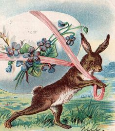 Beautifully Illustrated Antique Easter Greetings by VintagenutsInc, $5.50