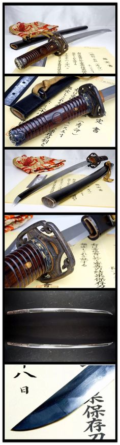 Mumei wakizashi, NBTHK attests made by Jumyo in early Edo period. Nice wood no ito tsuka.
