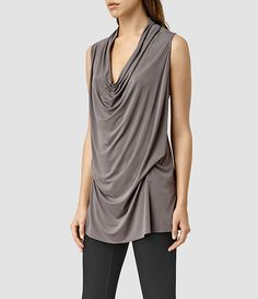 Women's Amei Sl Top (Pewter) - product_image_alt_text_2