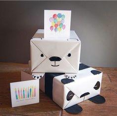 DIY crafty gift wrap: Polar Bear & Panda