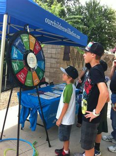 Children's Hospital of San Antonio at the Missions game this past weekend. Buy this Prize Wheel at http://PrizeWheel.com/products/floor-prize-wheels/floor-table-black-clicker-prize-wheel-12-slot/.