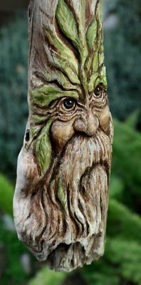 old face wood carving
