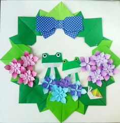 Origami wreath Folded by Majomajo