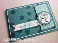 stampin up geburtstag birthday karte card zum wohl work of art fantastische vier fabulous four happy hour lagunenblau punkteregen decorative dots