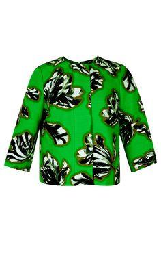 Tilly Green Tulips Jacket by Jonathan Saunders - Moda Operandi