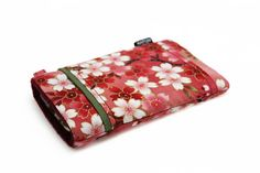 SOLD OUT - Ready to ship  Fabric iPhone 6 or 6s Sleeve  Red by KapomCrafts