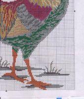 "Gallery.ru / irisha-ira - Альбом ""Петухи"" Cross Stitch Needles, Cross Stitch Patterns, Rooster, Needlework, Embroidery, Crafts, Hens, Needlepoint, Dressmaking"