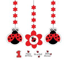 Check out Ladybug Party Dangling Cutout (3-pack) - Wholesale Birthday Party…