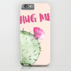 the most adorable and clever phone case ever! #hugme #cactus
