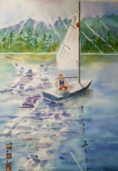 Triston on Huntington Lake