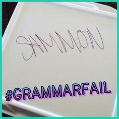 Um, no. I had the SALMON. #grammarfail #grammar #grammarerrors From: http://instagram.com/mrsorman/