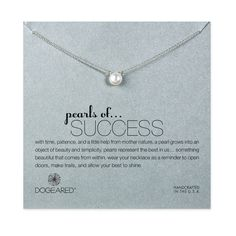 Pearls Of Success Pearl Necklace, Sterling Silver   Dogeared