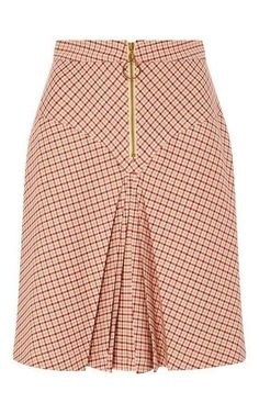 Bordeaux Pleated Checked Yoke Skirt by MANOUSH for Preorder on Moda Operandi Source by Latest African Fashion Dresses, African Print Fashion, African Wear, African Dress, Skirt Outfits, Dress Skirt, African Print Skirt, Classy Dress, Pattern Fashion
