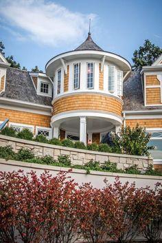 Grand Beach Michigan home turret, Milbury Architects, Ltd., Chicago, IL