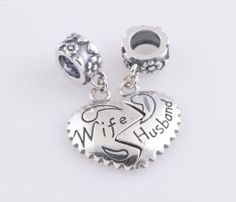Special Gift For Wedding Anniversary Valentines Day 925 Solid Sterling Silver Husband And Wife Love Heart
