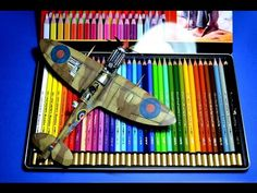 Weathering using aquarelle crayons- Great Guide Plastic Models - YouTube