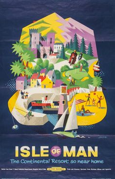 British Railways poster LANDER, R.M. ISLE OF MAN lithograph in colours, c.1960,