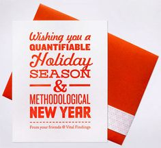 Holiday Typographic Poster