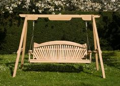 Gorgeously crafted wooden garden swings, available in Tranquillity Oak or Serenity Western Red Cedar. Voted as one of the 8 Best Swing Sets available in The Independent. Wooden Garden Swing, Wooden Swings, Best Swing Sets, Rope Swing, Pergola Swing, Swing Seat, Garden Buildings, Garden Toys, Outdoor Furniture