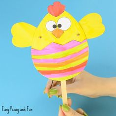 Paper Chick Puppet