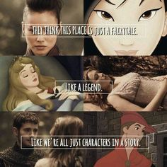 Characters in a story (Once Upon a Time) Love them all! (Mulan, Aurora, and Phillip)