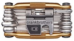Crank Brothers Multi Bicycle Tool (19-Function, Gold). For product info go to:  https://all4hiking.com/products/crank-brothers-multi-bicycle-tool-19-function-gold/