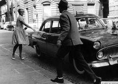 Photo de Jean-Paul Belmondo et Jean Seberg dans le film a bout de souffle