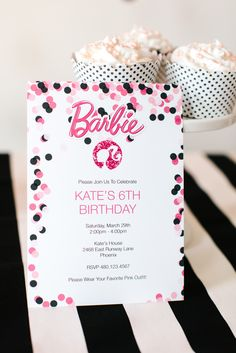 Barbie™ Free Printable Invitation Design (Editable!) Add your own text before printing!