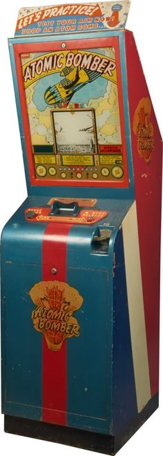 "5 Cent ""Atomic Bomber"" Arcade Skill Game c1946, by International Mutoscope Corp., New York"