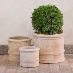 "An antiqued finish and banded detailing give this terracotta vessel rustic appeal in the garden.- Terracotta- Indoor or outdoor use; move indoors over winter- Drainage hole included- ImportedSmall7.5""H, 9"" diameterInterior depth: 7.25""Interior diameter: 6.5""Medium10.25""H, 11"" diameterInterior depth: 9.5""Interior diameter: 9""Large12.5""H, 15"" diameterInterior depth: 11.5""Interior diameter: 12.75"""