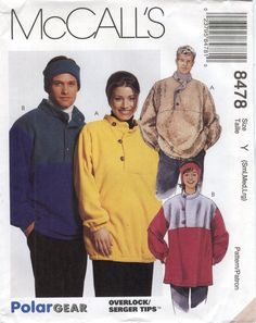 McCall's 8478 Unisex Top and Headband Jacket