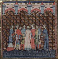 14th century (1338-1344) Flemish - Tournai  Oxford, Bodleian Library  MS. Bodl. 264: Romance of Alexander  fol. 181v