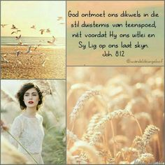 Afrikaans Quotes, Beautiful Collage, Bible Quotes, Live Life, Prayers, Spirituality, Hat Party, Inspirational Quotes, Christian