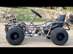 Power Wheels Go Kart Runs! + Off Road tires! Go Kart Frame Plans, Go Kart Plans, Build A Go Kart, Diy Go Kart, Go Kart Buggy, Off Road Buggy, Karting, Go Kart Off Road, Mini Buggy