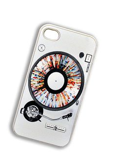 For your digital + analog self: record player iPhone 4 case.
