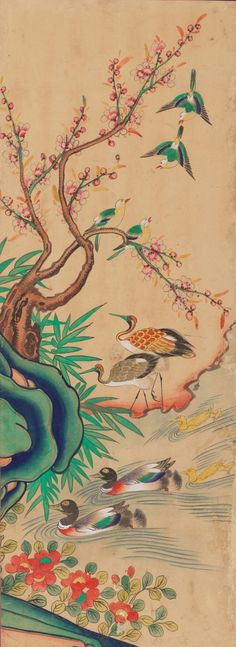 국립고궁박물관 소장작품들 여덟번째 입니다 : 네이버 블로그 Woodblock Print, Watercolor Tattoo, Asian, Japanese, Ceramics, Prints, Herons, Painting, Korean